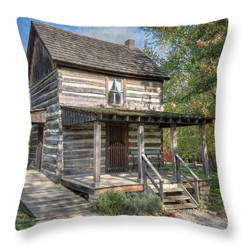 19th Century Cabin Throw Pillow