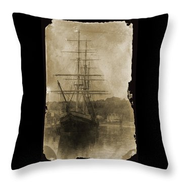 19th Century Schooner Throw Pillow