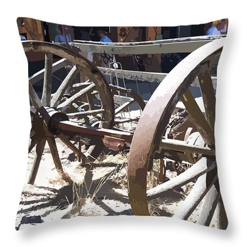 1gold Mine Northern California Throw Pillow