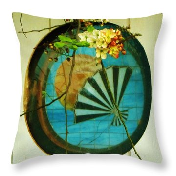 1st Blossoms Of My Shower Tree Throw Pillow by Craig Wood