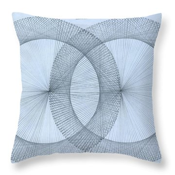 Magnetism Throw Pillow