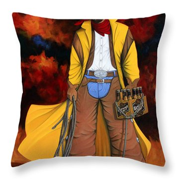 10 Pac Throw Pillow by Lance Headlee