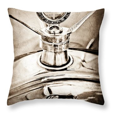 1923 Ford Model T Hood Ornament Throw Pillow by Jill Reger