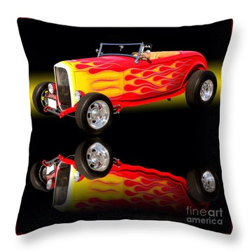 1932 Ford V8 Hotrod Throw Pillow