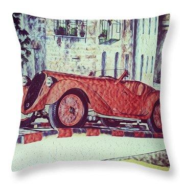 1937 Alfa Romeo 8c 2900a Throw Pillow