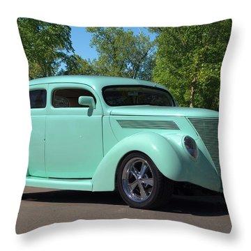 1937 Ford Sedan Hot Rod Throw Pillow