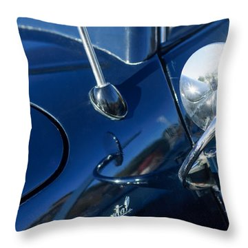 1941 Lincoln Continental Convertible Emblem Throw Pillow