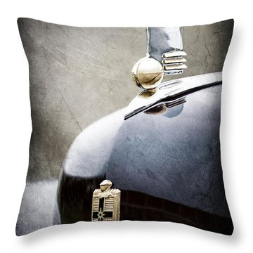 1942 Lincoln Continental Cabriolet Hood Ornament - Emblem Throw Pillow