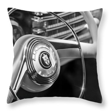 1942 Lincoln Continental Cabriolet Steering Wheel Emblem Throw Pillow