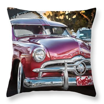 1949 Ford 2 Door Custom  Throw Pillow