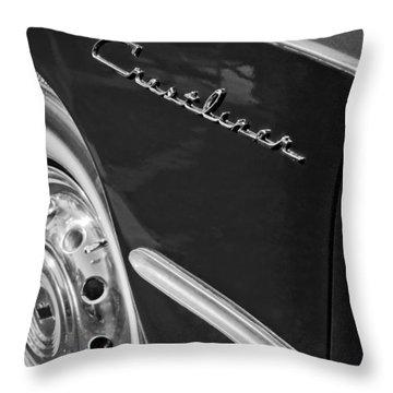 1951 Ford Crestliner Emblem - Wheel Throw Pillow by Jill Reger