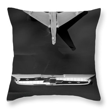 1955 Chevrolet Belair Nomad Hood Ornament Throw Pillow