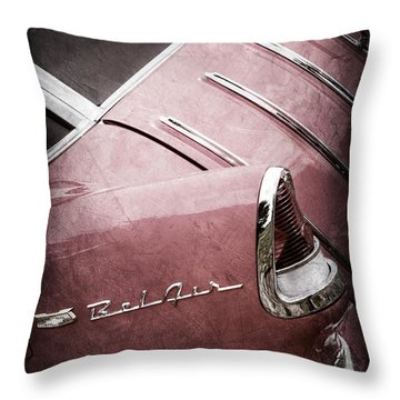 1955 Chevrolet Nomad Wagon Taillight Emblem Throw Pillow
