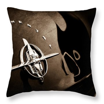 1956 Continental Mark II Coupe Rear Emblem Throw Pillow
