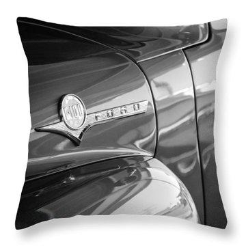 1956 Ford F-100 Truck Emblem Throw Pillow
