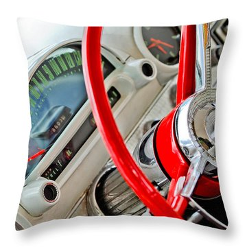 1956 Ford Throw Pillows