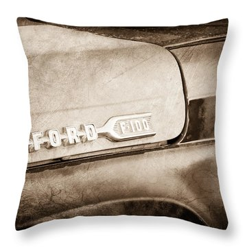 1959 Ford F-100 Emblem Throw Pillow