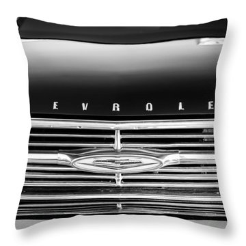 1960 Chevrolet El Camino Grille Emblem Throw Pillow by Jill Reger