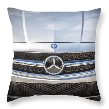 2012 Mercedes Cls 63 Amg Twin Turbo Bw Throw Pillow by Rich Franco