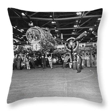 5,000th Boeing B-17 Built Throw Pillow
