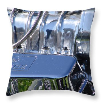 Throw Pillow featuring the photograph 502 Big Block by Chris Thomas