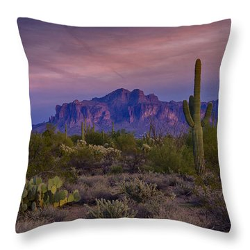 A Beautiful Desert Evening  Throw Pillow