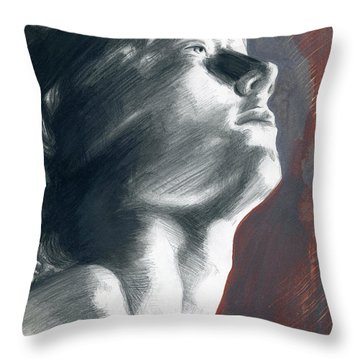 Throw Pillow featuring the painting A Boy Named Faith by Rene Capone
