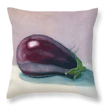 A Is For Aubergine Throw Pillow