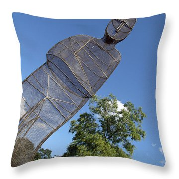 Throw Pillow featuring the photograph Minujin's A Man Of Mesh by Cora Wandel