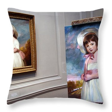 Throw Pillow featuring the photograph A Painting Of A Painting by Cora Wandel
