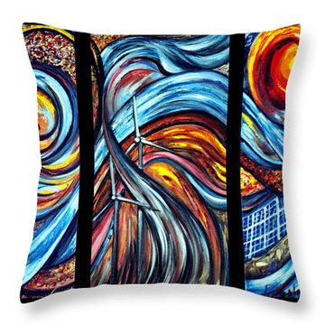 Throw Pillow featuring the painting A Ray Of Hope by Harsh Malik