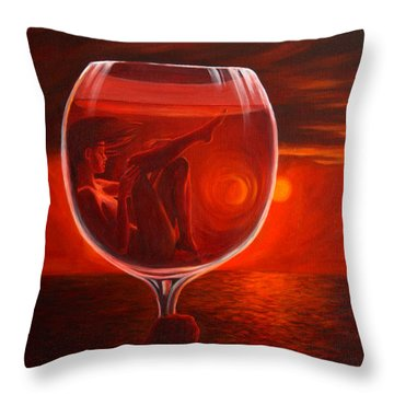 A Toast To Love And Wine Throw Pillow