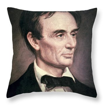 Abraham Lincoln Throw Pillow by George Peter Alexander Healy