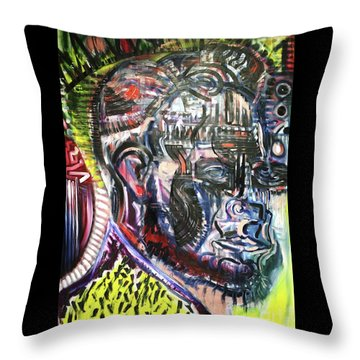 Abraham Lincoln  Throw Pillow by Michael Kulick