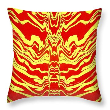 Abstract 48 Throw Pillow by J D Owen