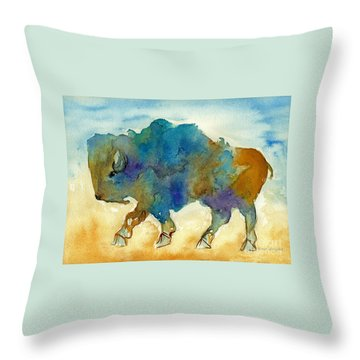 Abstract Buffalo Throw Pillow by Nan Wright