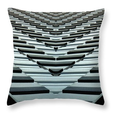 Abstract Buildings 7 Throw Pillow by J D Owen