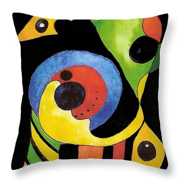 Abstract Dream Throw Pillow by Nan Wright