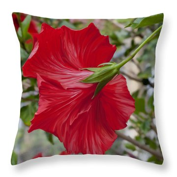 Abstract Hibiscus Throw Pillow