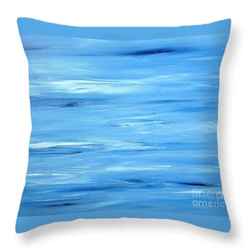 Abstract Landscape Throw Pillow by Susan  Dimitrakopoulos