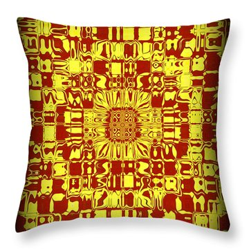 Abstract Series 10 Throw Pillow by J D Owen
