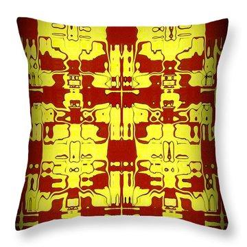 Abstract Series 5 Throw Pillow by J D Owen