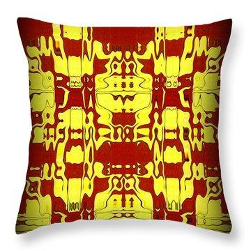 Abstract Series 6 Throw Pillow by J D Owen