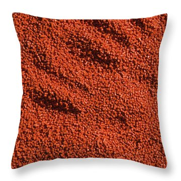 Abstract Texture - Red Throw Pillow