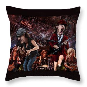 Ac/dc Throw Pillow