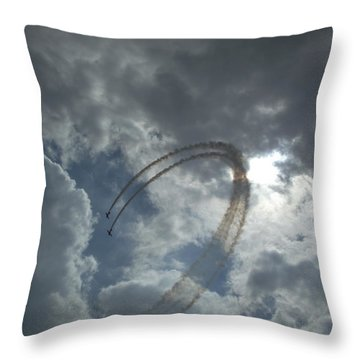 Aerial Display Throw Pillow