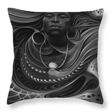 African Spirits I Throw Pillow