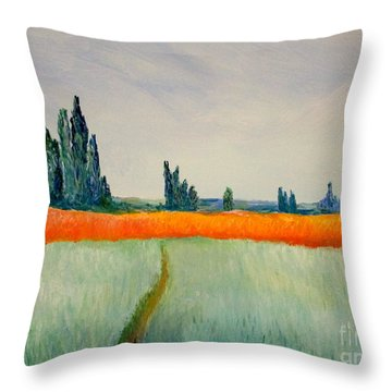 After Monet Throw Pillow