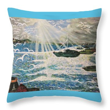 After The Storm Throw Pillow by Leanne Seymour