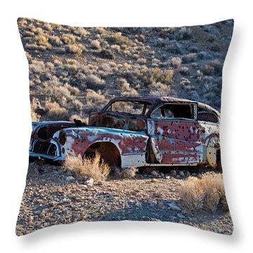 Aguereberry Camp Death Valley National Park Throw Pillow